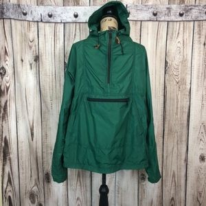 Vtg L.L Bean Green Hooded Raincoat